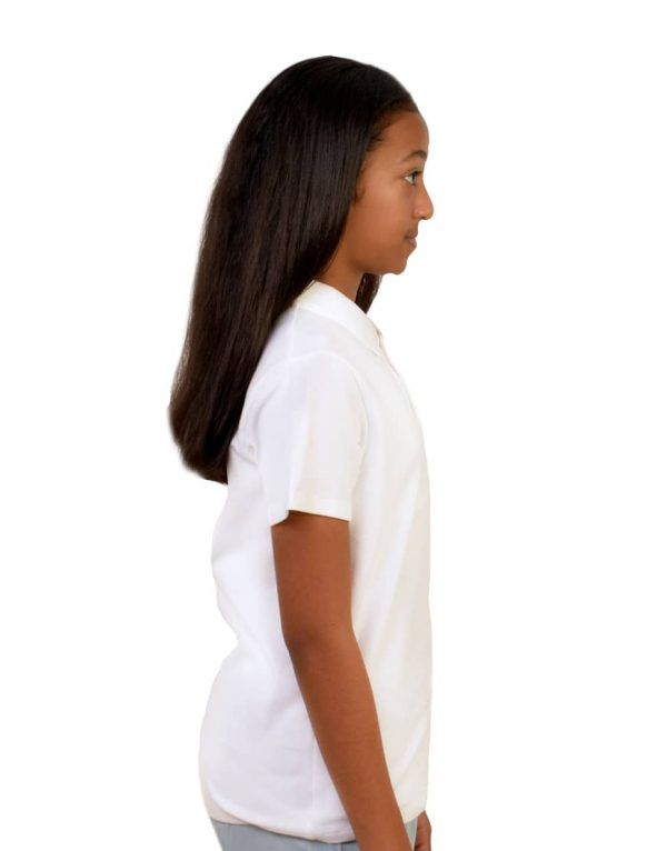 Tweens custom white polo shirt right side
