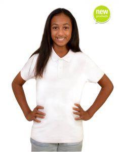 Girls custom white polo shirt
