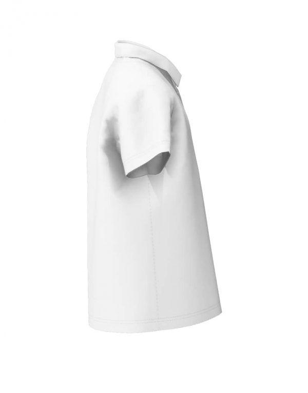 Tweens custom white polo shirt 3D right sleeve