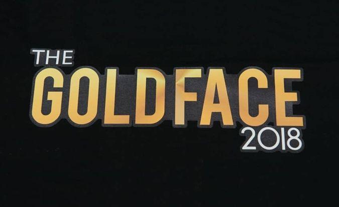 Goldface t shirt print