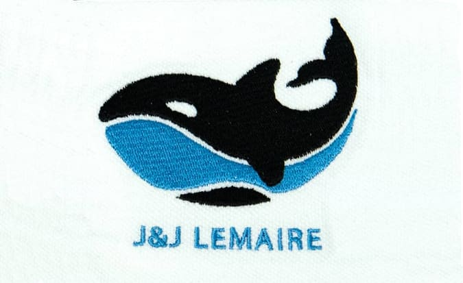 j j lemaire logo embroidery
