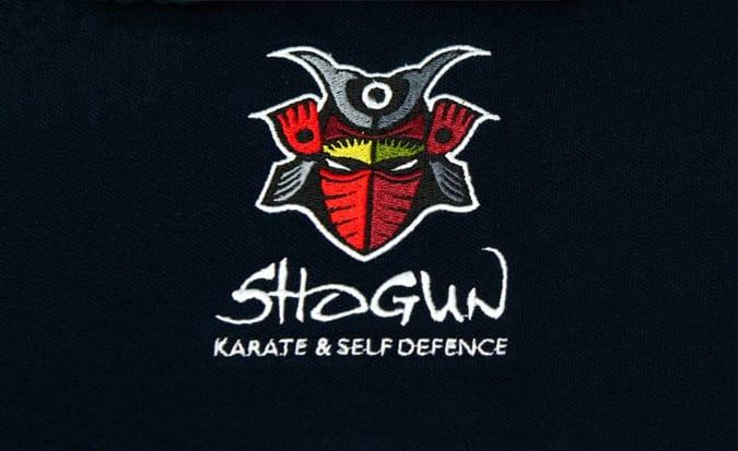 Shogun karate logo embroidery