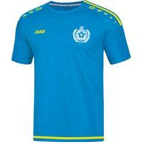 Jako Striker 2.0 Shirt Korte Mouw Kinderen - Jako Blauw / Fluogeel