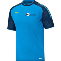 Jako Champ T-Shirt Dames - Jako Blauw / Marine / Fluogeel