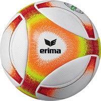 Erima Hybrid Futsal (310 G) Voetbal - Wit / Oranje / Neongeel / Rood