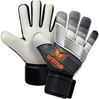 Erima Skinator Hybrid Training Keepershandschoenen - Zwart / Wit / Neon Oranje