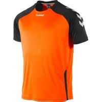 Hummel Aarhus Shirt Korte Mouw Kinderen - Fluo Oranje / Zwart