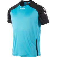 Hummel Aarhus Shirt Korte Mouw Kinderen - Aqua Blue / Zwart