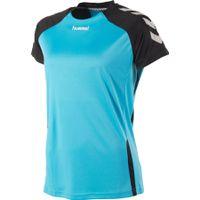 Hummel Aarhus Shirt Korte Mouw Dames - Aqua Blue / Zwart
