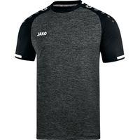 Jako Prestige Shirt Korte Mouw Kinderen - Zwart Gemeleerd / Wit
