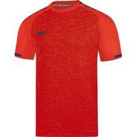 Jako Prestige Shirt Korte Mouw Kinderen - Flame Gemeleerd / Navy