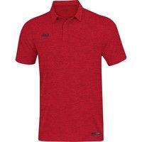 Jako Premium Basics Polo Dames - Rood Gemeleerd