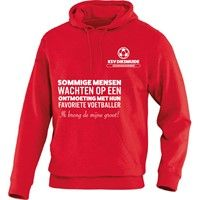 Jako Team Sweater Met Kap Kinderen - Rood