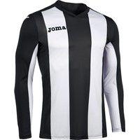 Joma Pisa Voetbalshirt Lange Mouw - Zwart / Wit