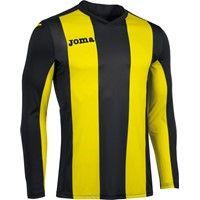 Joma Pisa Voetbalshirt Lange Mouw Kinderen - Zwart / Geel