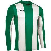 Joma Pisa Voetbalshirt Lange Mouw Kinderen - Groen / Wit
