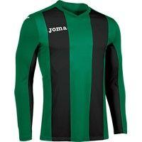 Joma Pisa Voetbalshirt Lange Mouw Kinderen - Groen / Zwart