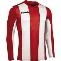 Joma Pisa Voetbalshirt Lange Mouw Kinderen - Rood / Wit
