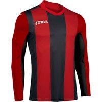 Joma Pisa Voetbalshirt Lange Mouw Kinderen - Rood / Zwart