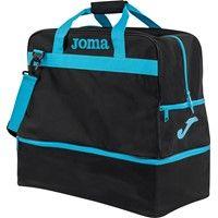 Joma Training III (Large) Sporttas Met Bodemvak - Zwart / Fluor Turquoise