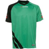 Patrick Victory Shirt Korte Mouw Kinderen - Groen / Zwart