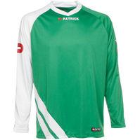 Patrick Victory Voetbalshirt Lange Mouw Kinderen - Groen / Wit