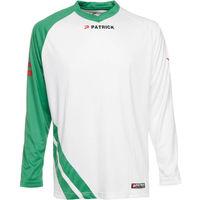 Patrick Victory Voetbalshirt Lange Mouw Kinderen - Wit / Groen