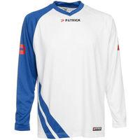 Patrick Victory Voetbalshirt Lange Mouw Kinderen - Wit / Royal