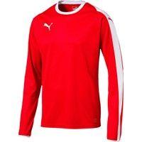 Puma Liga Voetbalshirt Lange Mouw - Rood / Wit