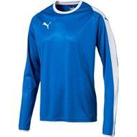 Puma Liga Voetbalshirt Lange Mouw - Royal / Wit