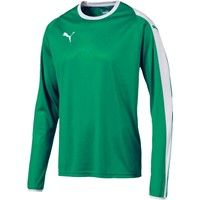 Puma Liga Voetbalshirt Lange Mouw - Groen / Wit