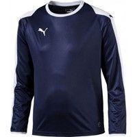 Puma Liga Voetbalshirt Lange Mouw - Marine / Wit