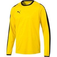 Puma Liga Voetbalshirt Lange Mouw - Geel / Zwart