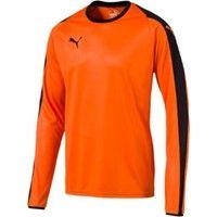 Puma Liga Voetbalshirt Lange Mouw - Oranje / Zwart