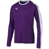 Puma Liga Voetbalshirt Lange Mouw - Paars / Wit