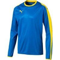 Puma Liga Voetbalshirt Lange Mouw - Royal / Geel