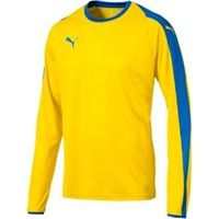 Puma Liga Voetbalshirt Lange Mouw - Geel / Royal
