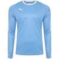 Puma Liga Voetbalshirt Lange Mouw - Hemelsblauw / Wit