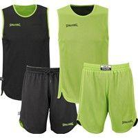 Spalding Double Face Reversible Basketbalset Kinderen - Zwart / Flashgreen