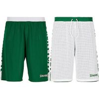 Spalding Essential 2.0 Reversible Short Kinderen - Groen / Wit