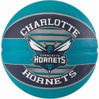 Spalding Charlotte Hornets (size 7) Team Outdoor Basketbal - Zwart / Groen