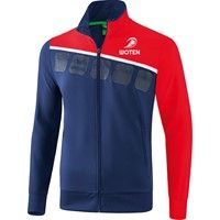 Erima 5-C Trainingsvest - New Navy / Rood / Wit