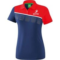 Erima 5-C Polo Dames - New Navy / Rood / Wit