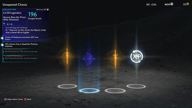 Shadow of War loot box system