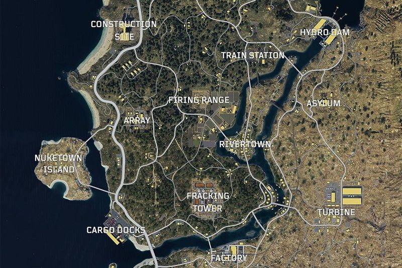 Call of Duty Blackout full map
