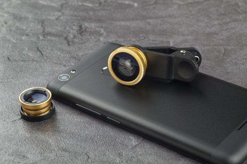 Optional lenses for a modern smartphone.