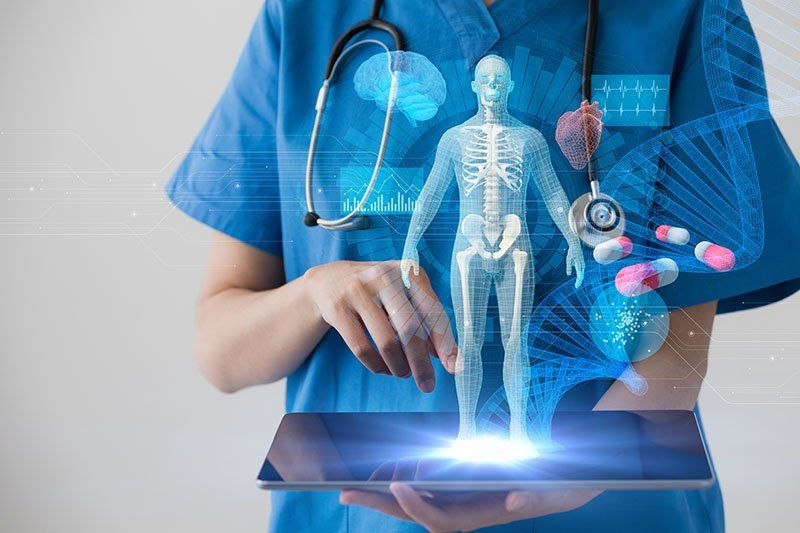 Medical technology concept. Electronic medical record.