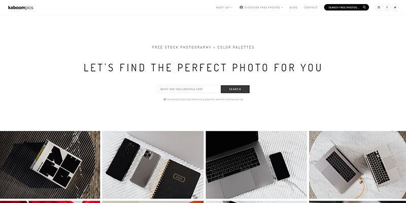 Kaboompics stock photos website
