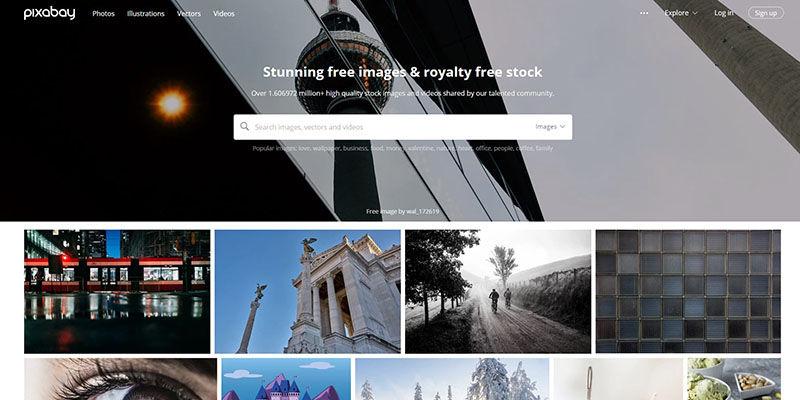 Pixabay stock photos website