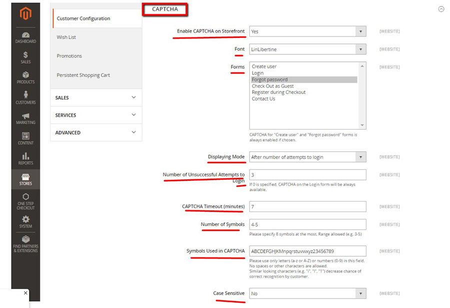 Magento storefront reCAPTCHA setup